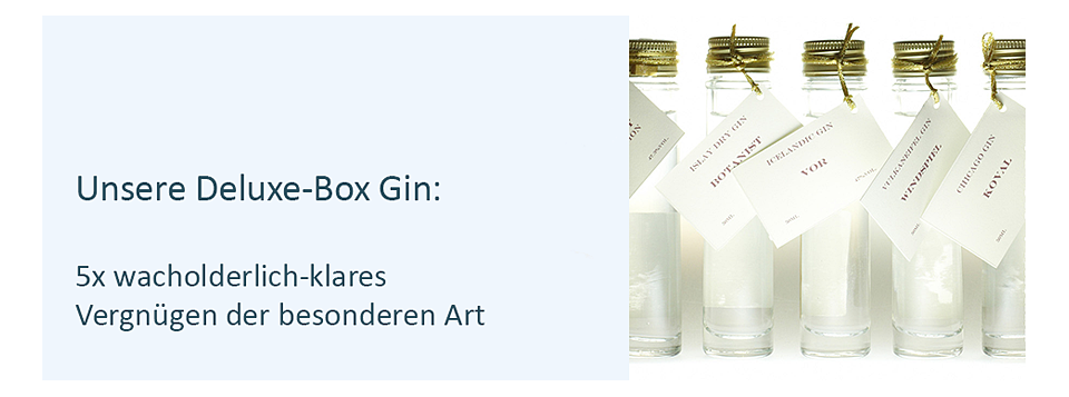 Deluxe Box Gin, Gin Tasting zuhause