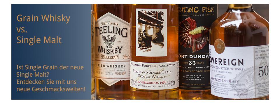 Single Grain vs. Single Malt Whisky - entdecken Sie mit uns neue Geschmackswelten