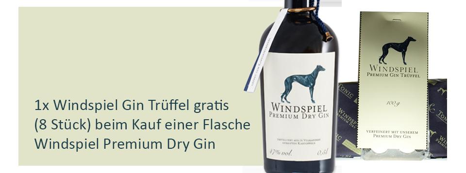 Windspiel Premium Dry Gin und Windspiel Gin Trüffel