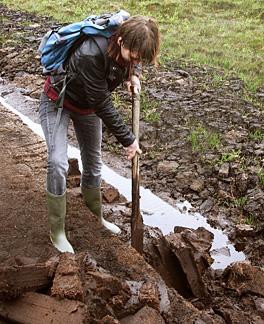 Unsere Mitarbeiterin Juliane Reichert bei der praktischen Weiterbildung auf Islay