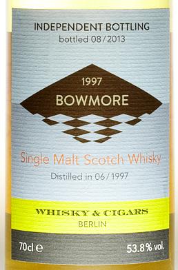 Bowmore 1997, Abfüller Whisky & Cigars